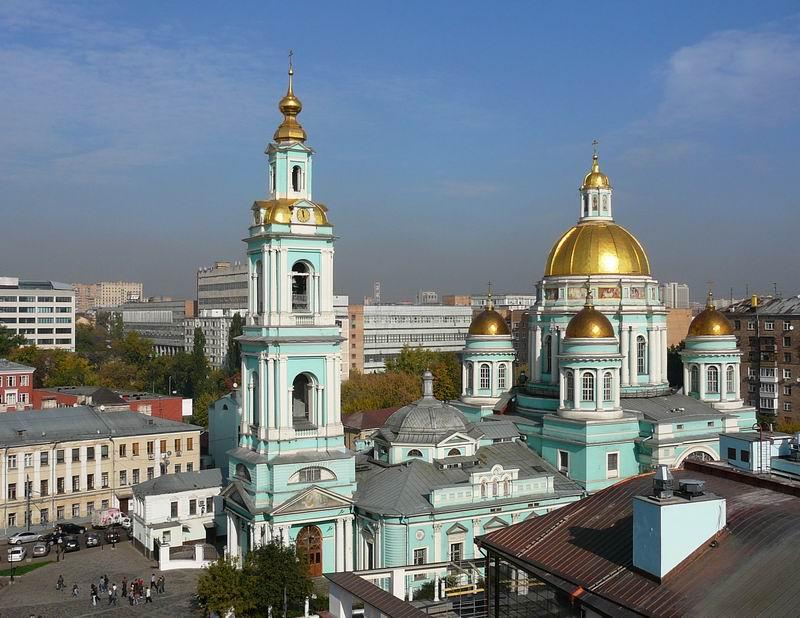 церковь,где крестили Пушкина,Елоховский собор