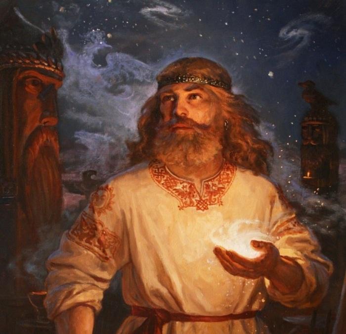 Согласно древнеславянским верованиям, Сварог создал людей из своих перстов и очень их любил. /Худ. А.Шишкин